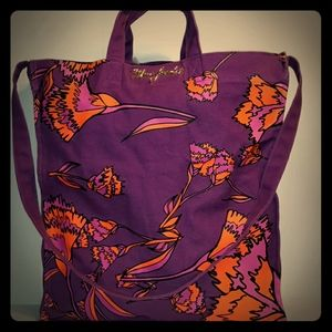 Beautiful MARC JACOBS Purple Floral Reusable Tote